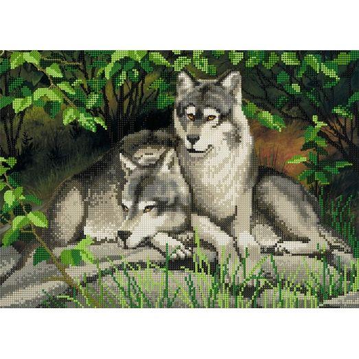 A-040 (А3) Волки. Схема для вышивки бисером СвитАрт