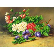 A-086 (А4) Цветы и вишня. Схема для вышивки бисером СвитАрт