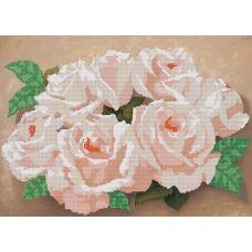 A-092 (А3) Розовые розы. Схема для вышивки бисером СвитАрт