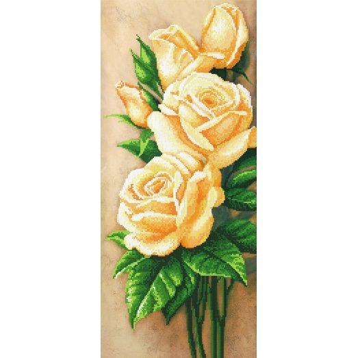 A-111 (25*55) Белые розы. Схема для вышивки бисером СвитАрт