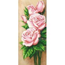 A-111a (25*55) Розовые розы. Схема для вышивки бисером СвитАрт