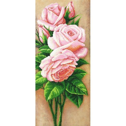 A-112 (25*55) Розовые розы. Схема для вышивки бисером СвитАрт