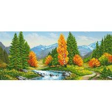 A-126 (25*55) Осенний лес. Схема для вышивки бисером СвитАрт