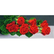 A-128 (25*55) Красные розы. Схема для вышивки бисером СвитАрт