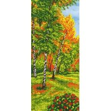 A-142a Осенний лес. Схема для вышивки бисером СвитАрт