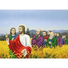 A-186 (А3) Иисус и люди. Схема для вышивки бисером СвитАрт