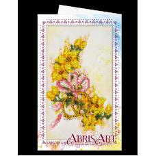 АОМ-015 Открытка-конверт. Свадебные цветы. Абрис Арт