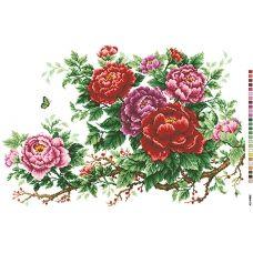 А2-16-002 Розы. Канва для вышивки нитками Вышиванка