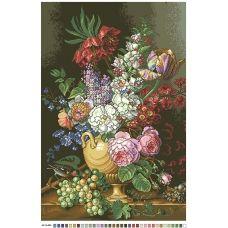 А2-16-004 Цветочный натюрморт. Канва для вышивки нитками Вышиванка