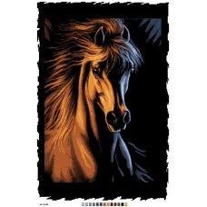 А2-16-009 Лошадь. Канва для вышивки нитками Вышиванка