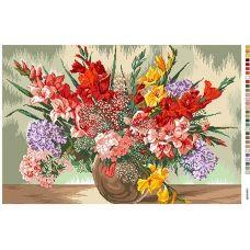 А2-16-013 Ваза с цветами. Канва для вышивки нитками Вышиванка
