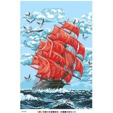 А2-16-016 Алые паруса. Канва для вышивки нитками Вышиванка