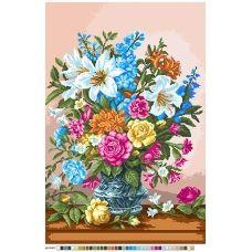 А2-16-017 Букет с лилиями. Канва для вышивки нитками Вышиванка