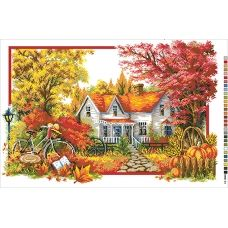 А2-16-023 Осенняя пора. Канва для вышивки нитками Вышиванка