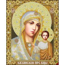ИК2-0301(3) Казанская икона Божией Матери (в золоте). Схема для вышивки бисером Феникс
