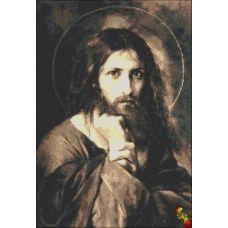 ИК2-0297 Портрет Иисуса (сепия). Схема для вышивки бисером Феникс