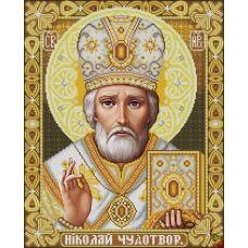 ИК2-0303(3) Святой Николай Чудотворец золото. Схема для вышивки бисером Феникс