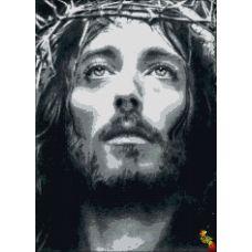 ИК2-0298 Взгляд Иисуса. Схема для вышивки бисером Феникс