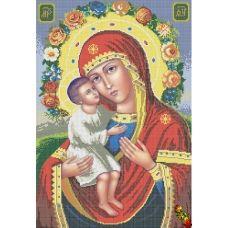 ИК2-0299 Жировицкая Икона Божией Матери. Схема для вышивки бисером Феникс