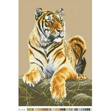 А3-14-008 Тигр. Канва для вышивки нитками Вышиванка