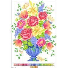 А3-14-016 Букет цветов. Канва для вышивки нитками Вышиванка