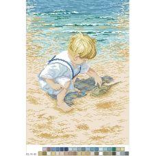 А3-14-032 Играющийся мальчик. Канва для вышивки нитками Вышиванка