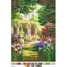 А3-14-045 Цветочная дорожка. Канва для вышивки нитками Вышиванка