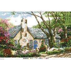 А3-14-069 Летний дом. Канва для вышивки нитками Вышиванка