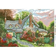 А3-14-073 Дом в лесу. Канва для вышивки нитками Вышиванка