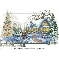 А3-14-086 Зима. Канва для вышивки нитками Вышиванка