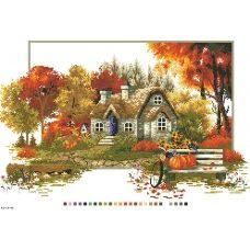 А3-14-092 Осень. Канва для вышивки нитками Вышиванка