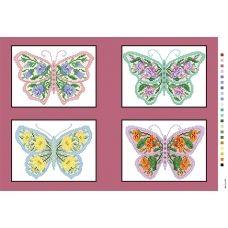 А3-14-097 Бабочки. Канва для вышивки нитками Вышиванка