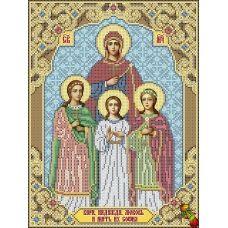 ИК3-0280 Святые мученицы Вера, Надежда, Любвь и мать их София. Схема для вышивки бисером Феникс