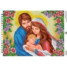 А3Р_250 Святое семейство. Схема для вышивки бисером TM Virena