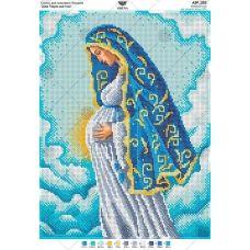 А3Р_252 Дева Мария беременная. Схема для вышивки бисером TM Virena