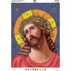 А3Р_253 Иисус в терновом венке. Схема для вышивки бисером TM Virena