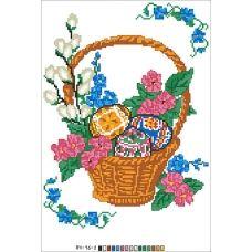 А4-16-002 Пасхальная корзина. Канва для вышивки бисером Вышиванка