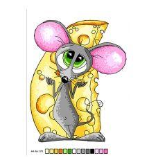 А4-16-170 Сытого года Мышки! Схема на канве для вышивки. ТМ Вишиванка