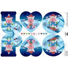 А4Н_347 Елочные игрушки. Схема для вышивки бисером TM Virena