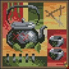 ФПК-6005 Азиатский чай - черный.Схема для вышивки бисером Феникс