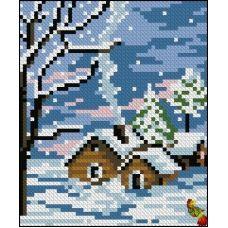 ФПК-6008 Снег идёт. Схема для вышивки бисером Феникс