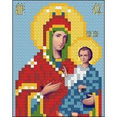 ИК7-0020 Иверская икона Божья Матерь. Схема для вышивки бисером Феникс
