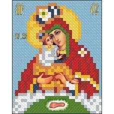 ИК7-0016 Почаевская Божья Матерь. Схема для вышивки бисером Феникс