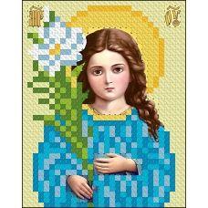 ИК7-0014 Божья Матерь Трилетствующая. Схема для вышивки бисером Феникс