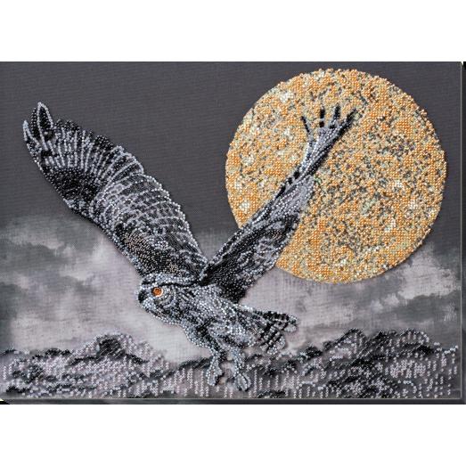 АВ-759 Ночной полет. Набор для вышивки бисером на художественном холсте. Абрис Арт