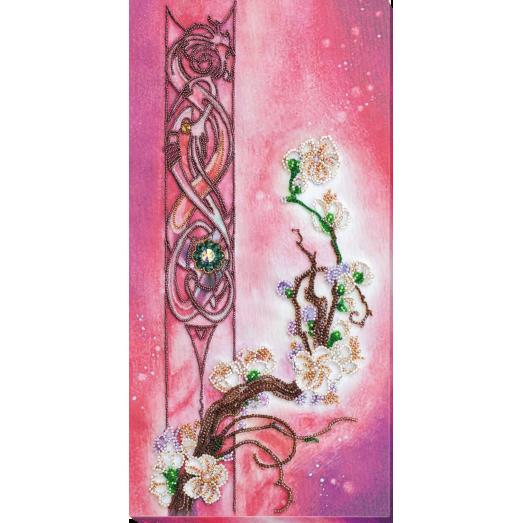 АВ-799 Цвет сакуры. Набор для вышивки бисером на художественном холсте. Абрис Арт
