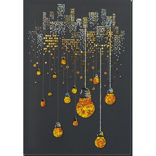 АВ-811 Ламповый вечер Набор для вышивки бисером на художественном холсте. Абрис Арт