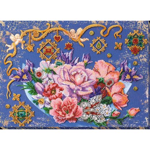 АВ-813 Волшебные цветы. Набор для вышивки бисером на художественном холсте. Абрис Арт
