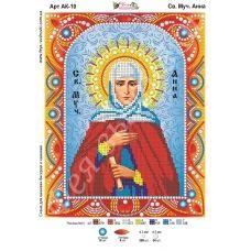 АК-010 Св. Анна. Схема для вышивки бисером и камнями Фея вышивки