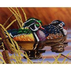 АК3-070 Уточки-мандаринки. Схема для вышивки бисером А-Строчка